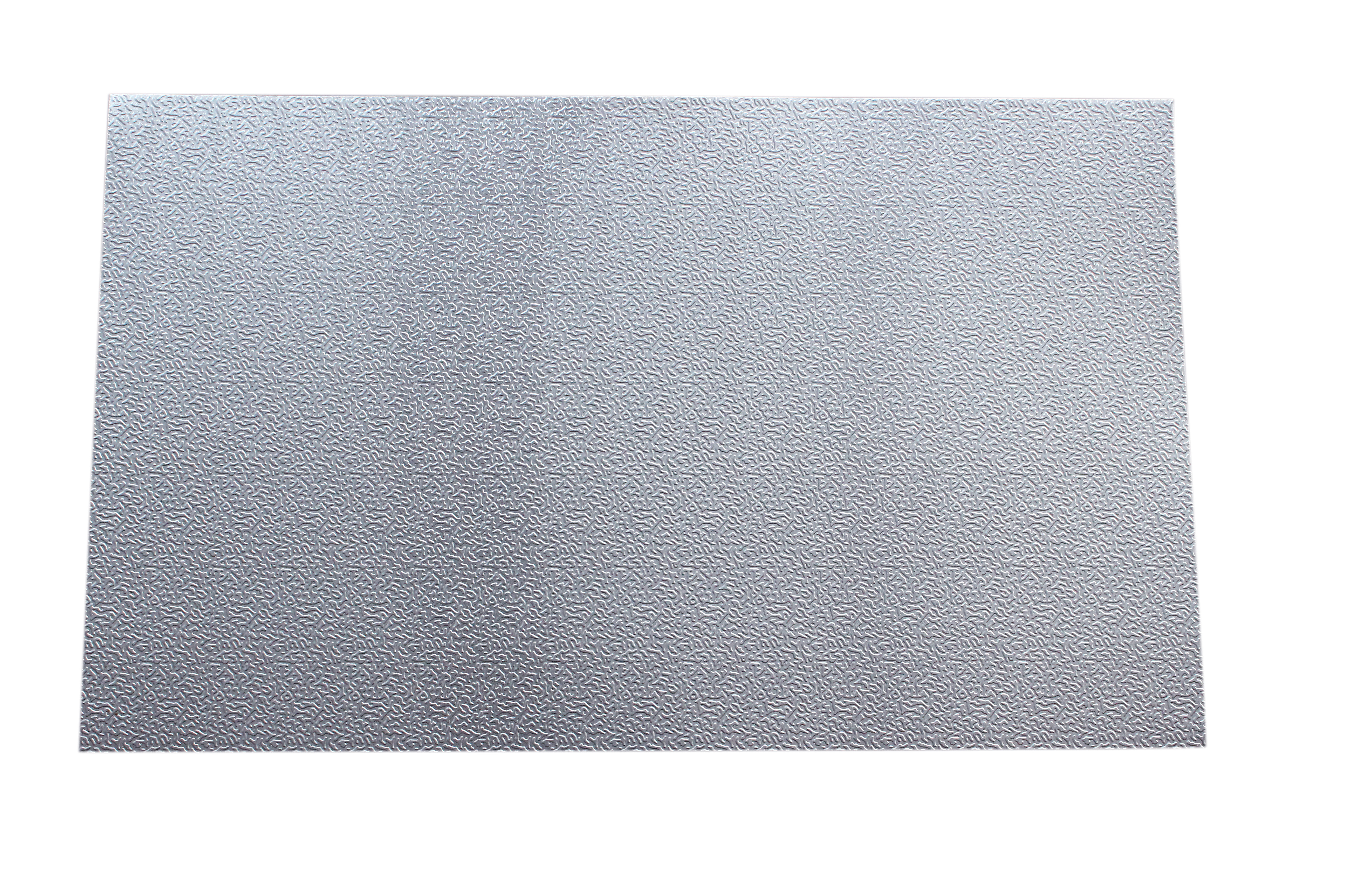 Embossed aluminum checkered plate sheet for refrigerator and freezer