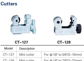 Refrigeration copper tube pipe cutter CT127/CT128