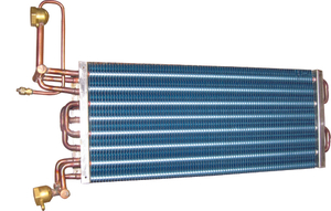 Copper tube aluminum fin evaporator for low temperature cold room