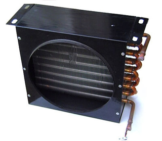 Copper tube aluminum fin evaporator for freezer